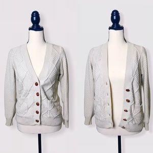 UO / BDG Ivory Cotton Button Down Cardigan Sz XS